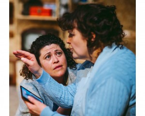 Karin Diamond and Francine Morgan in Re-Live Theatre's Belonging